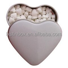 food grade heart shape tin box tin can for mint packaging, sweet box