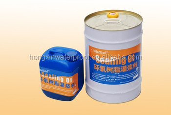 Two-component epoxy grouting material