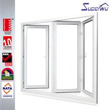 Hurricane impact resistance quality chinese products pvc/upvc frame glazed bifold doors and windows