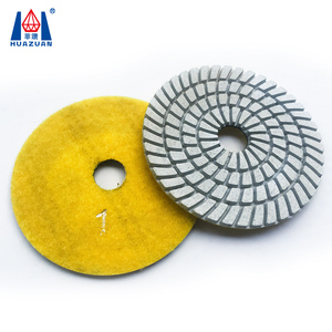 Huazuan wet 3 steps diamond polishing pads for stone