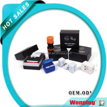 Top Selling New Arrival universal all in one adapter UK AU USA EU plug wholesale wedding door gift