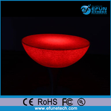 remote control led light style romantic stylish led bar coffee round cocktail table