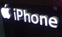 Internal apple mobile phone store Illuminated Channel Letters signs