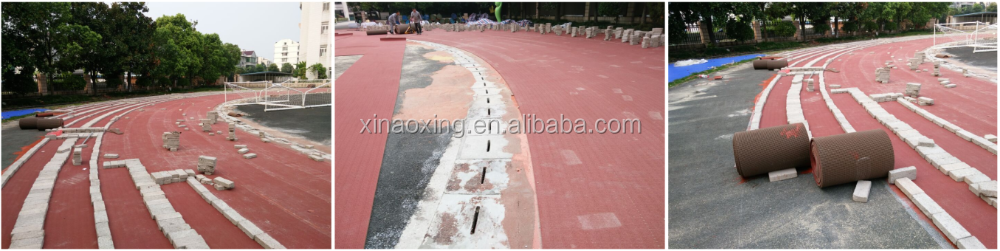 Huadongtrack , IAAF Certified Prefabricated Rubber Running Track Surface Material For 400 meter Standard Stadium Field