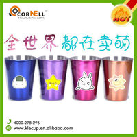 Color & LOGO Customized Environmental Item Metal Beer Cup Stainless Steel Shot Glass For Winery