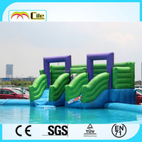 CILE Customized Green Giant Inflatable Water Slide with Pool for Summer