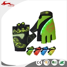 NRE17-007 Hot sales Half finger led Bicycle gloves with 5 leds light