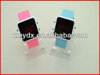 Newest square silicone mirror face led watch 2013