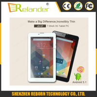 7 inch capacitive touch screen MTK8321 Quad core Android 5.1 WIFI GPS 3G tablet pc(V7)