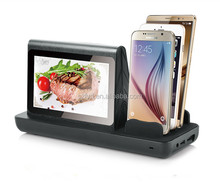Portable android advertising player with dual touch screen