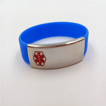 2014 china high quality Stainless steel love cuff fashion silicone bracelet Bangles