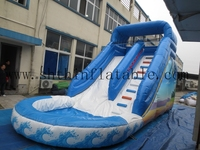 global hot inflatable slide/ inflatable wave hippo