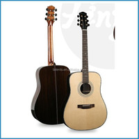 "41""cutaway solid wood body acoustic guitar"