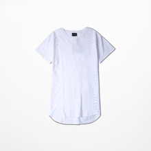 online shopping 10 Years Experience Plain cotton mens long t shirts t shirt with hole