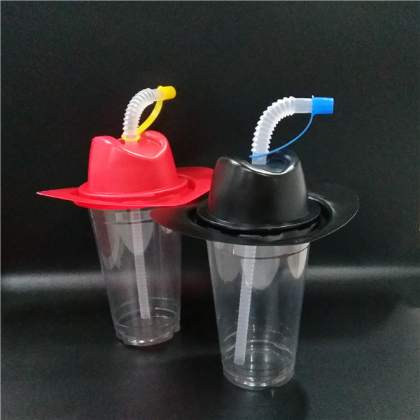 plastic straw with cap