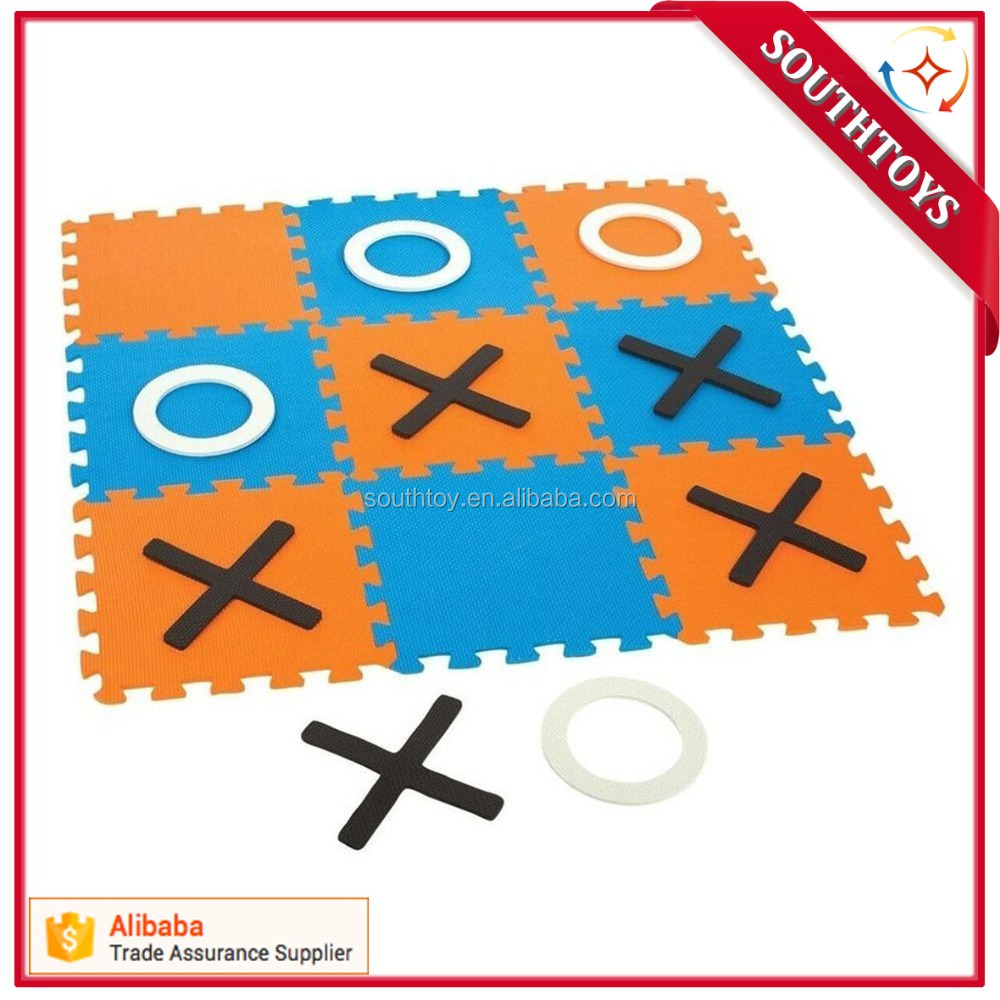 Play indoors or outdoors EVA Giant Tic-Tac-Toe Game kids Toss Across Game