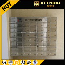 Keenhai Stainless Steel Wall Mount Letter Mailbox for Apartment Modern Mailbox