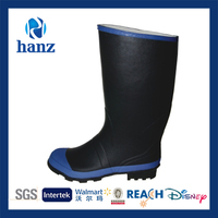 2014 Low Price Black Rubber Work Rain Boot Man Hot Selling