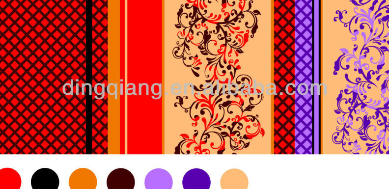 hot sale100% polyester taffeta print fabric from the silk mansion for European,India,Vietnam