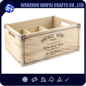 Luxury Export Shabby chic natural wood wine Carry wood wine box case wine busket