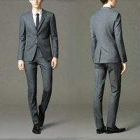 High quality formal business stand collar suits for men