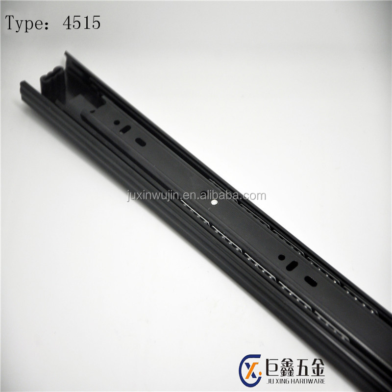 45mm width telescopic channel full extension 3 fold ball bearing drawer guide