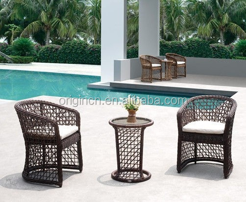 2016 latest chinese antique style swimming pool outdoor lounge bar furniture wicker chair and tables
