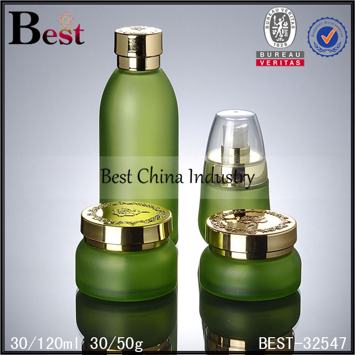 china supplier body lotion cream a set glass cosmetic bottle wholesale