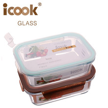 Freezer And Oven Safe Rectangular Storage Box Glass Container For Food Hot Selling Glass Cheap Lunch Box