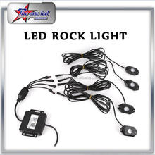 Hot DIY RGB Led Rock 4 pobs Kits 2.75 INCH allows to be installed anywhere and easy mounting to different types vehicles