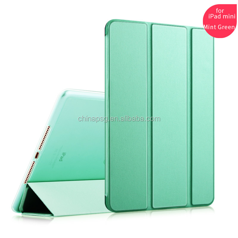 China Factory Hot Selling Bright Color TPu Leather Stand Case For ipad Mini 1 2 3