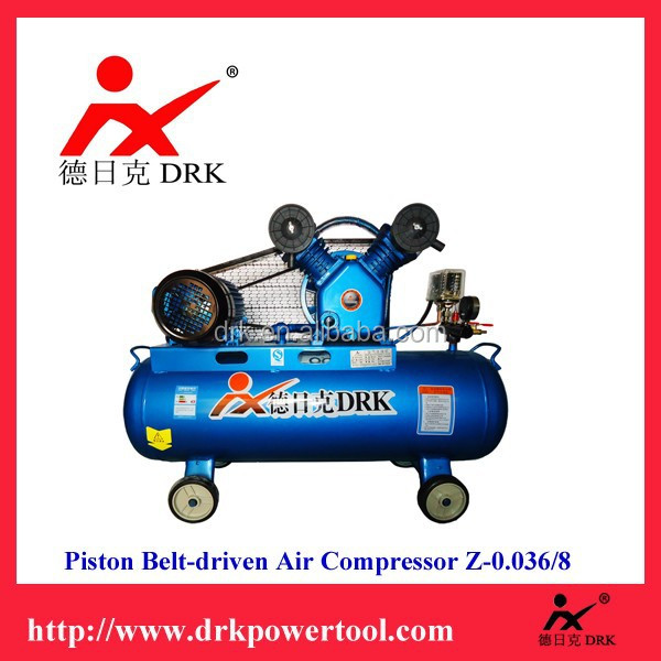 DRK Economic and Classic piston Belt-driven air compressorZ-0.036/8 for sale