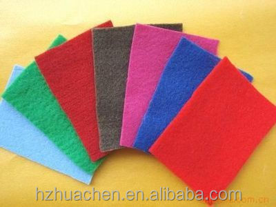 Make-to-order color needle punched polyester nonwoven fabirc/cloth/felt