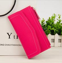 Cheap Price Candy Color Envelope Shape Wallets for Women
