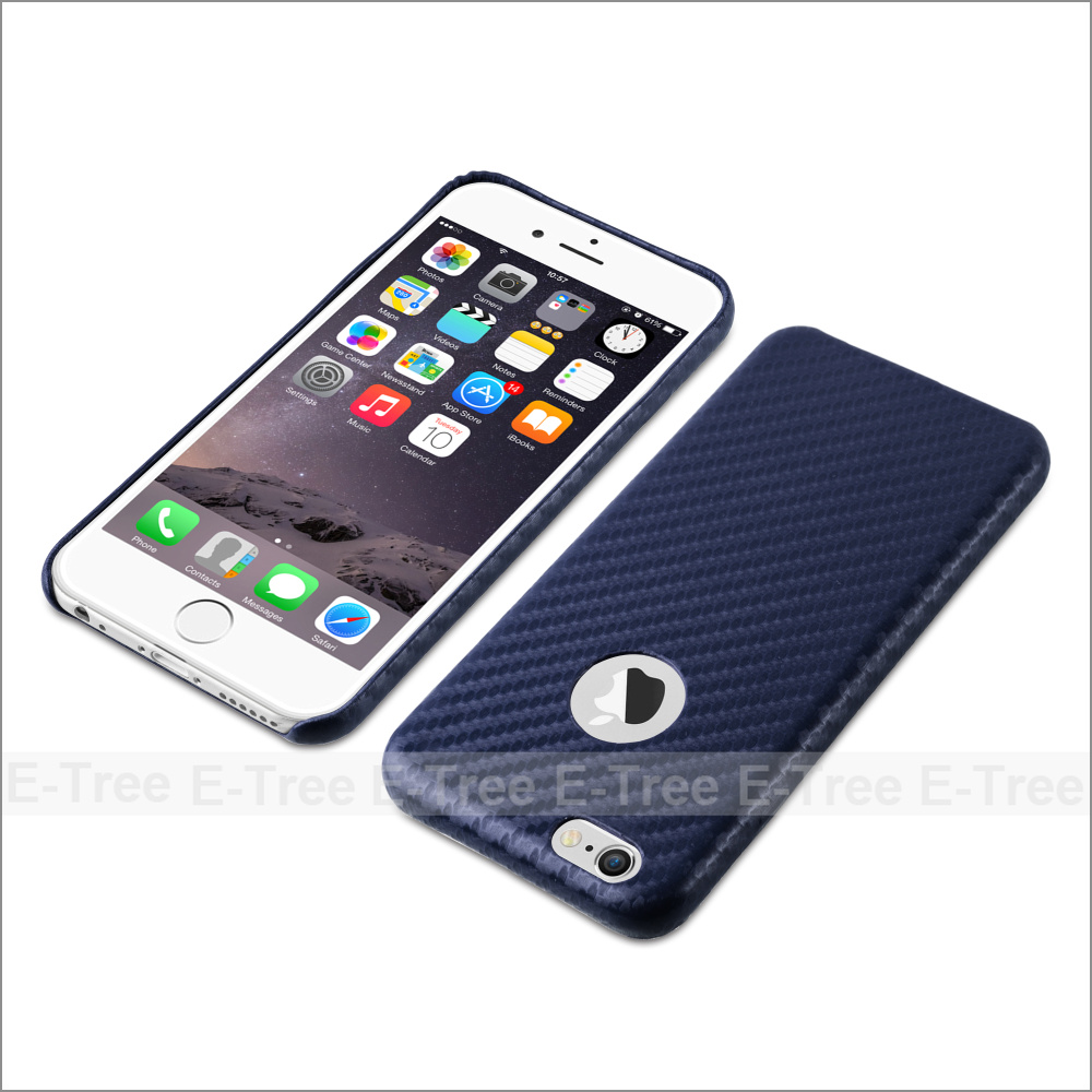 PU Carbon Fiber Fabric Phone Cases For iPhone 6 / 6S