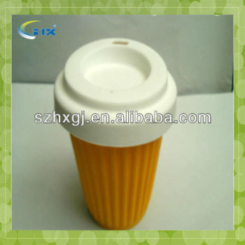 PP+Silicone Material and PP Plastic Type silicone resuable coffee cup
