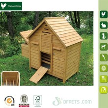 Chinese hot sale wooden chicken cage with nest box