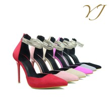 High quality italian shoe brands ladies stiletto heel shoes