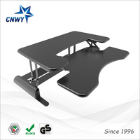 Modern laptop computer foldable sit stand desk