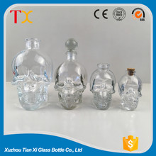clear glass product for vodka bottle