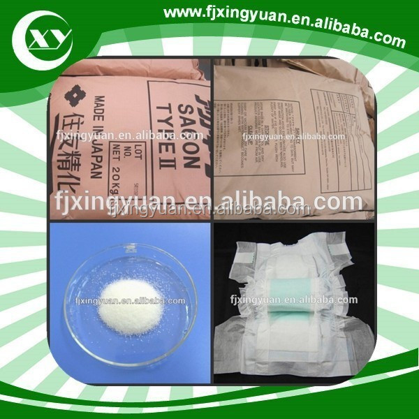 New products super absorbent polymer price for baby products