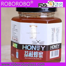 Hexagonal Glass Jam/Honey Container/Jar/Bottle