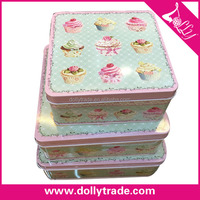 3PCS A SET Metal Custom Printed Cake Boxes