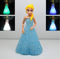 Cute Frozen Figures Table Decor Color Changing Night Light/Customized Movie Characters Decorative Room Night Light Factory