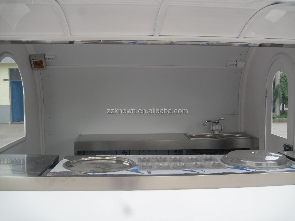Big space food cart for fried ice cream, fried ice cream roll machine, fried ice cream trailer