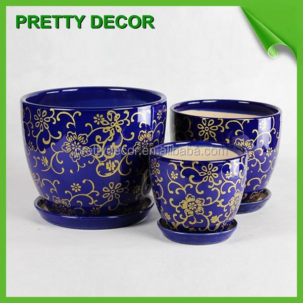 Indoor Flower Pots Ceramic Glazed Pottery Planter Garden
