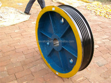 High quality Ots traction wheel/sheave 1000*5/6*16, elevator traction sheave