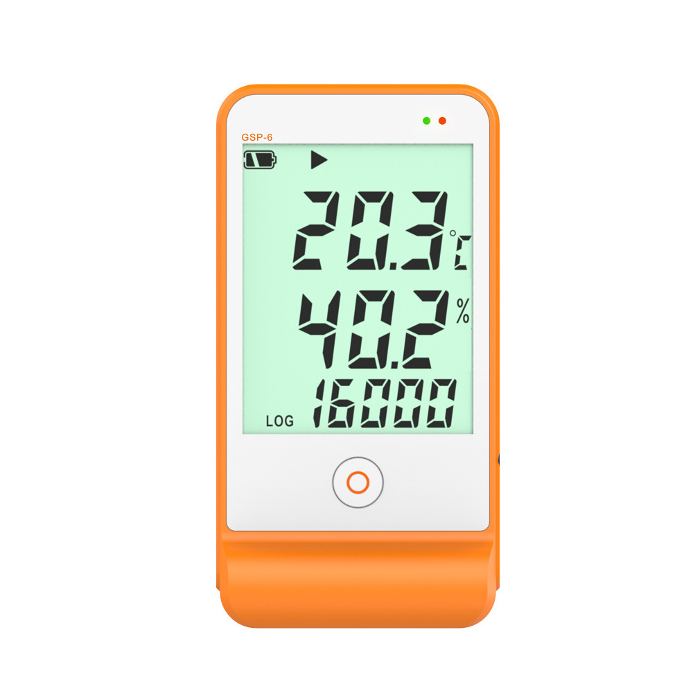 <strong>Temperature</strong> and Humidity Data Logger / Recorder, 16000 Points Record Refrigeration Cold Chian USB Refrigeration, GSP-6