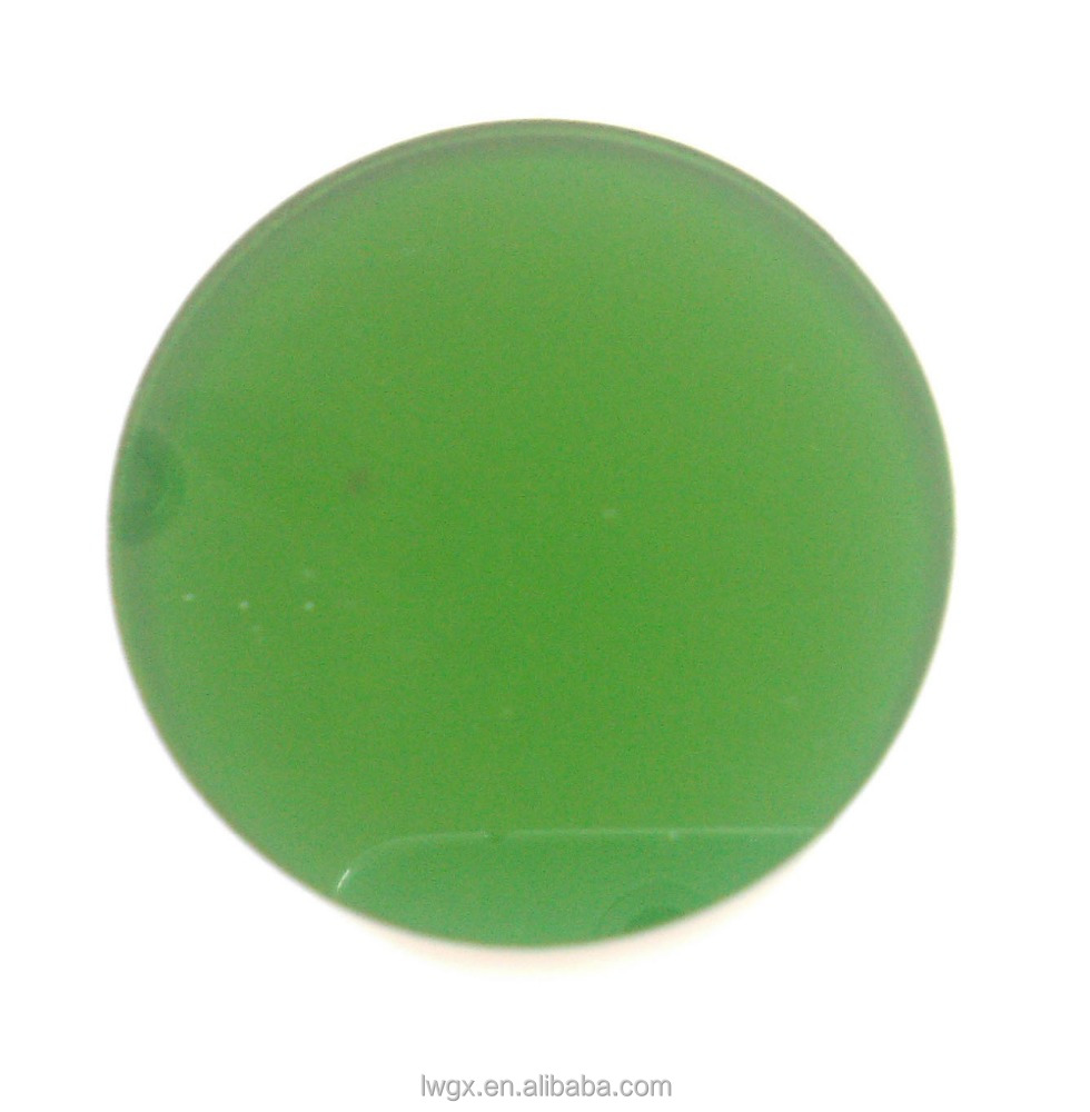 Green tinted colored stained glass for optical instrument