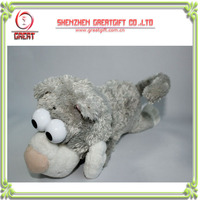 Plush electronical Rolling laughing dog toy,rolling over laughing plush toys,voice custom laughing rolling